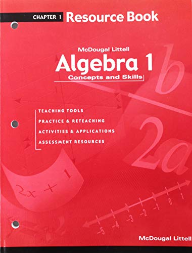 9780618078516: Algebra 1: Concepts and Skills: Resource Book Chapter 1