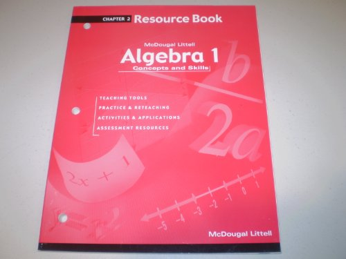 9780618078523: Algebra 1: Concepts and Skills: Resource Book Chapter 2