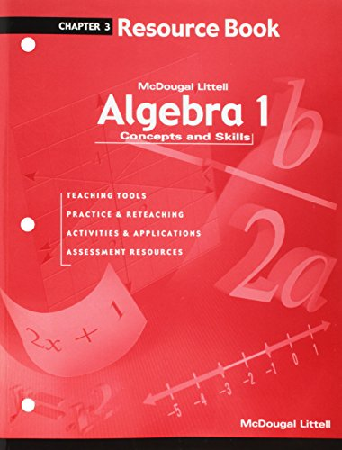9780618078530: Algebra 1: Concepts and Skills: Resource Book Chapter 3