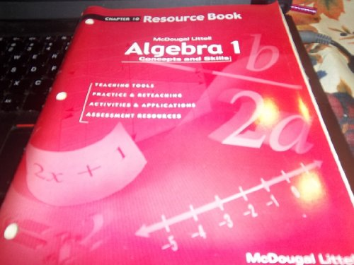 Algebra 1 - Concepts and Skills - Chapter 10 Resource Book