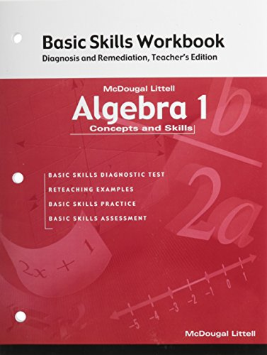 9780618078660: Algebra 1: Concepts and Skills: Basic Skills Workbook: Diagnosis and Remediation Teacher Edition