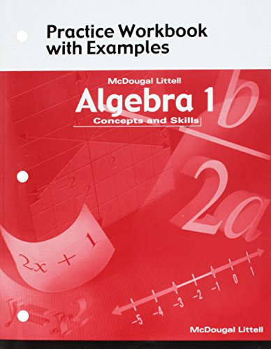 9780618078691: McDougal Littell Algebra 1: Concepts and Skills- Practice Workbook with Examples