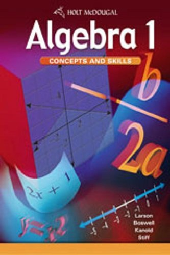 McDougal Littell Algebra 1, Concepts and