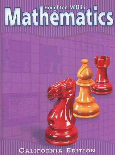 9780618081790: Houghton Mifflin Mathmatics California: Student Edition Level 5 2002