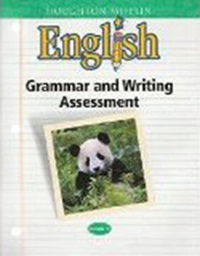 9780618086887: Houghton Mifflin English: Grammar and Writing Assessment Handbook Blackline Masters Grade 1