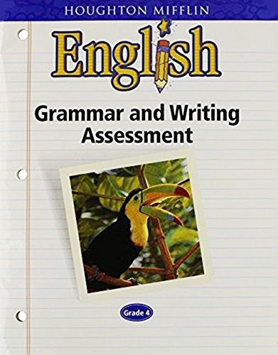 9780618086917: Houghton Mifflin English Grammar and Writing Assessment Handbook Blackline Masters Grade 4