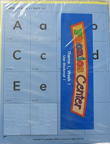 9780618089741: Houghton Mifflin Reading: The Nation's Choice: Phonics Center Student Grids Grade K