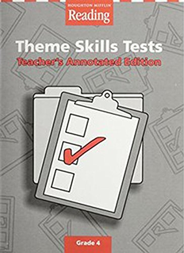9780618090570: Houghton Mifflin Reading: The Nation's Choice: Theme Skills Tests Level 4