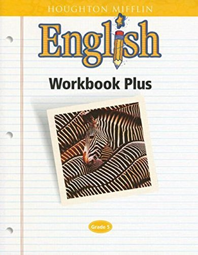 9780618090648: Houghton Mifflin English: Workbook Plus Grade 5