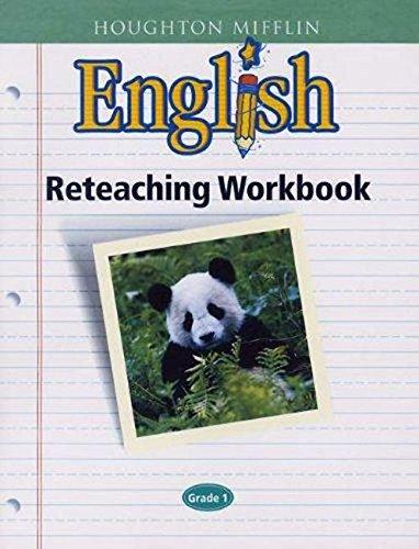 9780618090761: Houghton Mifflin English: Reteaching Workbook Consumable, Level 1