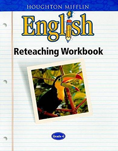 9780618090792: Houghton Mifflin English: Reteaching Workbook Grade 4