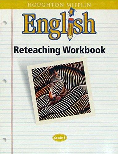 9780618090808: Houghton Mifflin English: Reteaching Workbook, Grade 5