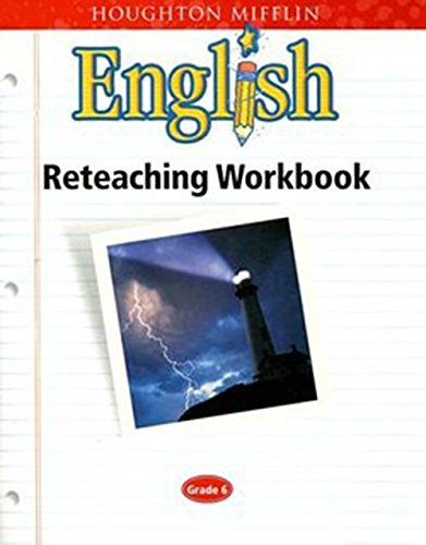 9780618090815: Houghton Mifflin English: Reteaching Workbook Grade 6