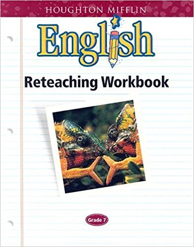 9780618090822: Houghton Mifflin English: Reteach Workbook Consumable Level 7