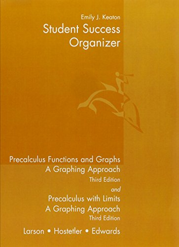 9780618098453: Student Success Organizer for Larson's Precalculus Functions and Graphs: A Graphing Approach, 3rd