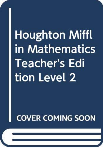 9780618100187: Houghton Mifflin Mathematics, Teacher's Edition, Level 2