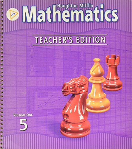 Houghton Mifflin Mathematics, Level 5, Vol. 1, Teacher's Edition: mifflin, houghton