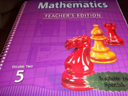 9780618100293: Houghton Mifflin Mathematics, Level 5, Vol. 2, Teacher's Edition