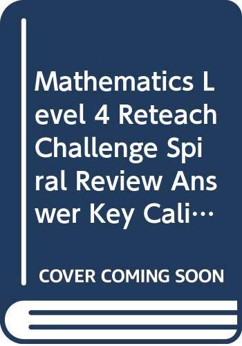 9780618100392: Houghton Mifflin Mathmatics: Prc Answer Key Level 4