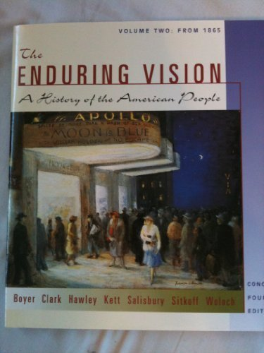 9780618102006: The Enduring Vision: A History of the American People Concise, Vol. 2