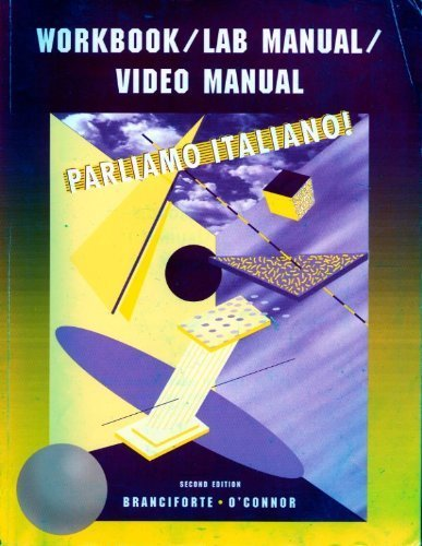 9780618102822: Workbook/lab Manual/video Manual: Used with ...Branciforte-Parliamo italiano!