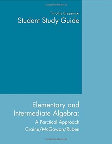 9780618103423: Elementary And Intermediate Algebra: A Practical Approach, Study Guide