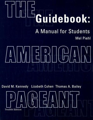 9780618103553: Guidebook Complete for Kennedy/Cohen/Bailey's The American Pageant: A History of the Republic, 12th