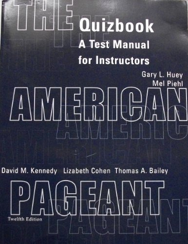 9780618103591: American Pageant Tb 12ed