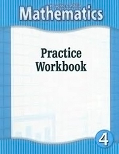 9780618104833: Houghton Mifflin Mathematics: Practice Workbook, Grade 4