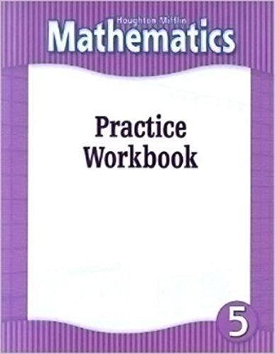 9780618104840: Houghton Mifflin Mathematics: Practice Workbook, Level 5