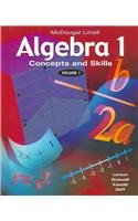 9780618106462: Algebra 1: Concepts and Skills Volume 1