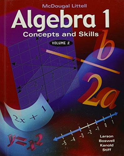 9780618106486: Algebra 1; Concepts and Skills, Volume 2
