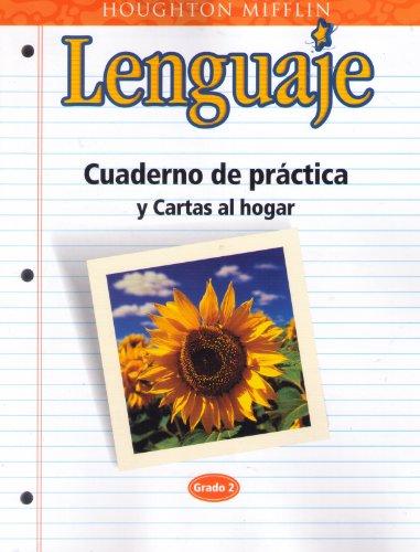 9780618106875: Cuaderno de practica y Cartas al hogar, Lenguaje, Grado 5 (Houghton Mifflin English)