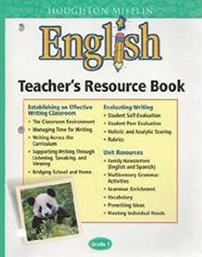 9780618107087: Houghton Mifflin English: Teacher's Resource