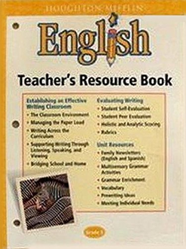 9780618107124: Houghton Mifflin English: Teacher's Resource Book Blackline Masters Grade 5