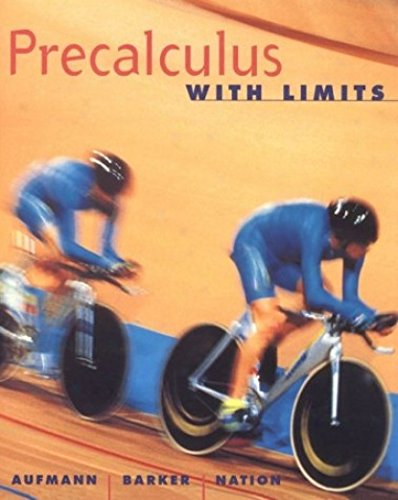9780618107292: Precalculus With Limits