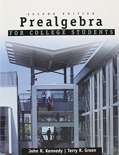 Prealgebra for College Students: John R. Kennedy,