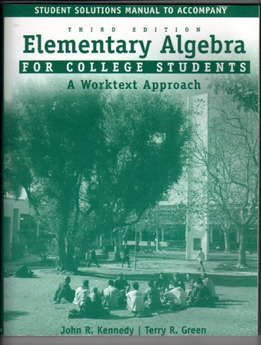 9780618109050: EL Algebra Student Solutions Manual Third Edition, Custom Publication