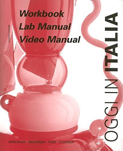 9780618112227: Workbook and Lab Manual: A First Course in Italian (Oggi in Italia)