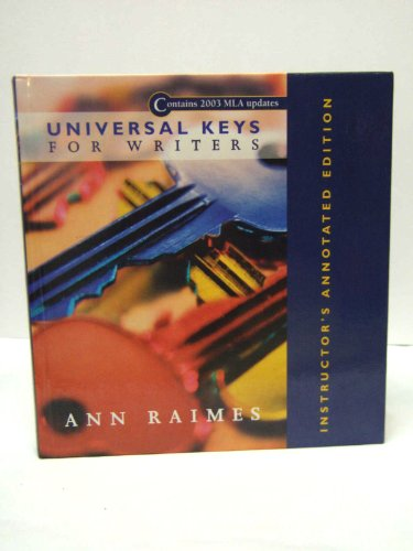 9780618112937: Universal Keys for Writers: Instructor''s Annotated Edition - Hardcover