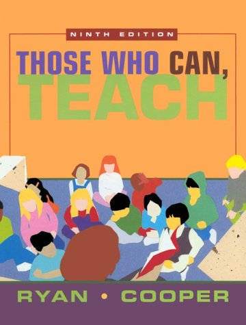 9780618114924: Those Who Can, Teach, Ninth Edition With Cd-rom And Seifert Reflect