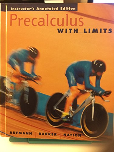 9780618115198: Precalculus With Limits And College Algebra Tutor, Third Edition