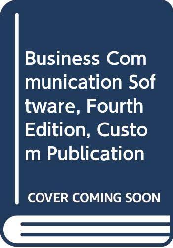 9780618115693: Business Communication Software, Fourth Edition, Custom Publication