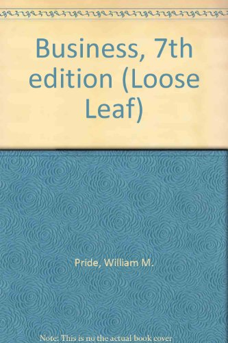 9780618115945: Business, 7th edition (Loose Leaf)