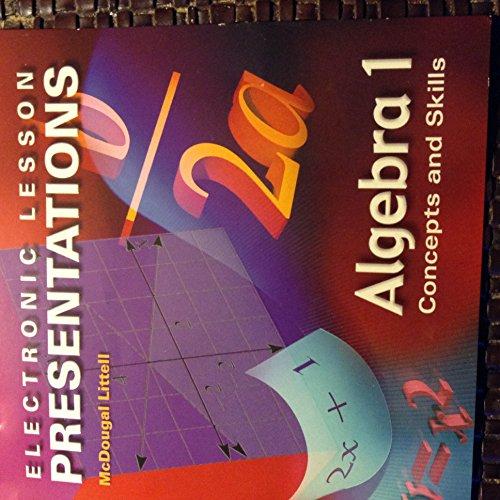 9780618117086: Algebra 1: Concepts & Skills: Electronic Lesson Presentations CD-ROM