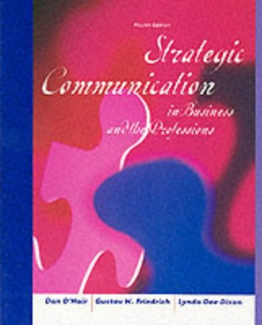 9780618122004: Strategic Communication in Business and the Professions