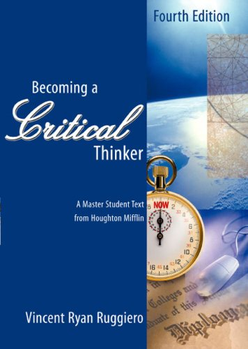 9780618122066: Becoming A Critical Thinker Fourth Edition