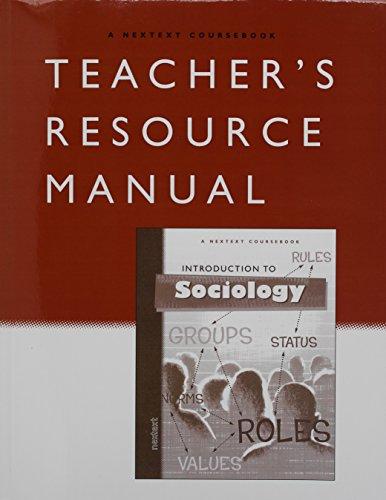 9780618122516: Nextext Coursebooks: Teacher Resource Manual Introduction to Sociology