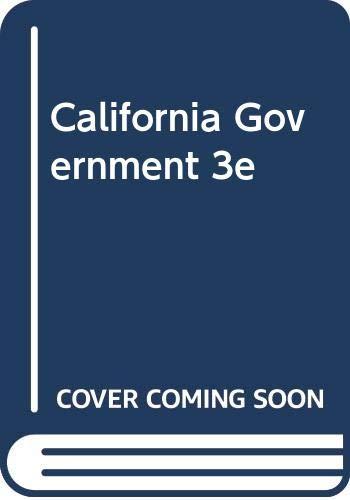 9780618122844: California Government Third Edition