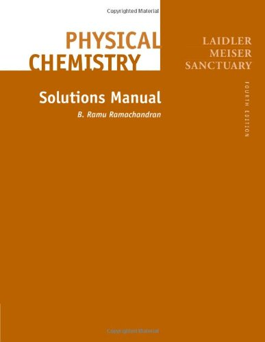 9780618123421: Physical Chemistry: Solutions Manual